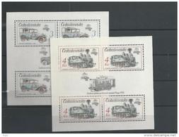 1987 MNH  Ceskoslovensko, Block 70-71 - Blocs-feuillets