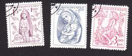 Czechoslovakia, Scott #B163-B165, Used, Child Welfare, Issued 1948
