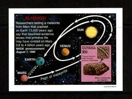Guyana 1996 Sc # Bf 3105A  MNH **  Mars Meterorite That Struck Earth