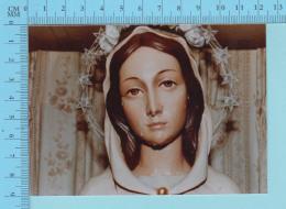 Reliquaire  De Poche - Linge Qui Toucha Aux Loarmes De La Statue MARIA ROSA MYSTICA - Relique Relic Reliquia- 2 Scans