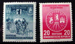 GERMAN DEMOCRATIC REPUBLIC # 239-240.  8th International Bicycle Peace Race.   MNH (**) - Unused Stamps
