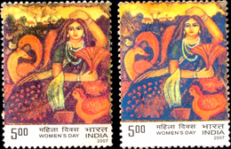 ART-PAINTING-DUCKS-PEACOCK-S-WOMEN'S DAY-ERROR-COLOR VARIETY-INDIA-GW-H1-268 - Arte