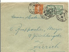 LETTER 1923 LYON - Marcofilia (sobres)