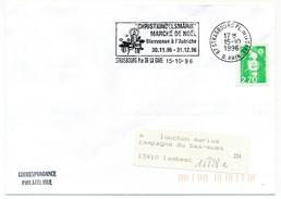 """FRANCE - Env. Affr 2,70 Briat - OMEC """"Christkindelsmarik - Marché De Noël - Autriche"""" STRASBOURG 1996 - Mechanical Postmarks (Advertisement)"""