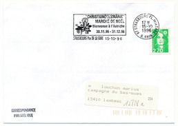 "FRANCE - Env. Affr 2,70 Briat - OMEC ""Christkindelsmarik - Marché De Noël - Autriche"" STRASBOURG 1996 - Postmark Collection (Covers)"