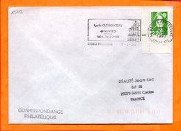 LOIRE-ATL., Nantes, Flamme SCOTEM N° 12712, Lycée Clemenceau 1808-1892-1992 - Postmark Collection (Covers)