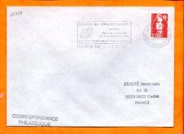 LOIRE-ATL., Nantes, Flamme SCOTEM N° 12727, Salon Du Champignon, 10-11-12 Octobre 1992 - Postmark Collection (Covers)