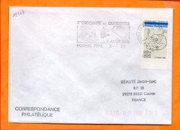 LOIRE-ATL., Pornic, Flamme SCOTEM N° 12547, 9e Brocante Et Curiosites, 2 Aout 1992 - Maschinenstempel (Werbestempel)