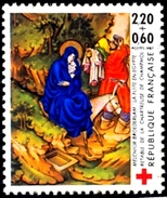 DONKEY-CHRISTIANITY-CHARITY STAMPS-FRANCE-SURCHARGED-MNH-H1-276