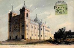 [DC10044] CPA - TUNISIA - CARTHAGE - LA CATHEDRALE - Viaggiata 1906 - Old Postcard - Tunisia