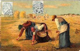 [DC10046] CPA - SCENA DI CAMPAGNA - Viaggiata 1908 - Old Postcard - Agricoltura