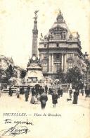 [DC10050] CPA - BELGIO - BRUXELLES PLACE DE BROUCKERE - Viaggiata - Old Postcard - Piazze