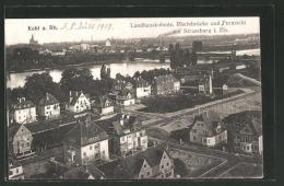 AK Kehl, Landhauskolonie, Rheinbrücke Und Fernsicht Auf Strassburg - Kehl