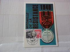 FRANCE (1974) MEDAILLE DE LA RESISTANCE - Maximum Cards