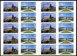 A06-04) BRD - Michel 3311 / 3312 = Folienblatt FB 67 - ** Postfrisch - 10x70-70C  Schloß Ludwigsburg, Wartburg/CEPT 17 - Unused Stamps