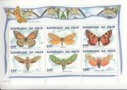 1998 Niger Butterflies Papillions Miniature Sheet Of 6 MNH - Scoutismo