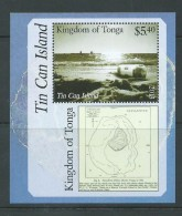 Tonga 2013 Tin Can Mail Ship & Island  $5.40 Miniature Sheet MNH - Tonga (1970-...)