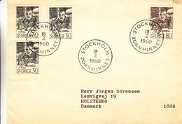 Suède - Lettre De 1960 - Oblit Stockholm - Peintre - Valeur 6 Euros