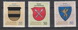 Liechtenstein Mi 450-452 Coat Of Arms - Schellenberg - Gutenberg - Frauenberg - 1965