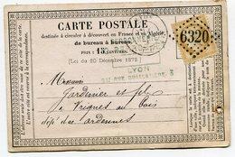 RHONE De LYON LA GUILLOTIERE GC 6320 Sur N°59 Sur CP De 1875 - 1849-1876: Classic Period