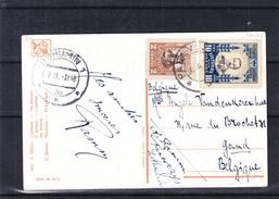 Lituanie - Carte Postale De 1931 - Oblit Panevezys - Exp Vers Gand En Belgique - Cachet De Bohumin - Lithuania