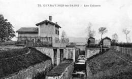 Cpa CHARAVINES LES BAINS, Les écluses (32.9) - France