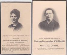 GEDACHTENISPRENTJES-HALLE-BOYENHOVEN+ENGELMANSHOVEN-FLORENTINA SCHIEMSKY+1924+MARCELLINA SCHUERMANS-FOTO-ZIE 2 SCANS! ! - Devotieprenten
