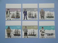 1995 Ross  Nouvelle Zélande - Yvert 38/43 ** Bateaux Ships Explorers  Scott L 31/6  Michel  32/7  SG 32/7 - Neufs