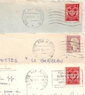3 Mécaniques - POSTE AUX ARMEES  - Dont Porte Des Vins Allemands Et SP 69 594. - Marcophilie (Lettres)