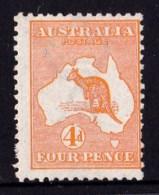 Australia 1913 Kangaroo 4d Orange 1st Watermark MH - Listed Variety - Mint Stamps
