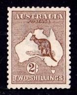 Australia 1913 Kangaroo 2/- Brown 1st Watermark MH - Mint Stamps