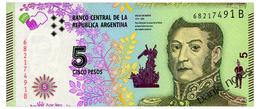 ARGENTINA 5 PESOS ND(2016) Seris B Pick 359 Unc - Argentina