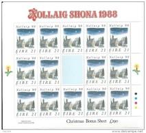 Irlande 1988 N°671 Neuf ** En Feuillet  Noël - Blocs-feuillets