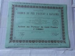COMPAGNIE DU CHEMIN DE FER D'ACHIET A BAPAUME (1925) - Shareholdings