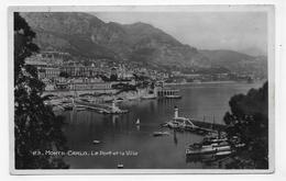 (RECTO / VERSO) MONTE CARLO - N° 23 - LE PORT ET LA VILLE - Ed. FRANK - CPA VOYAGEE - Harbor