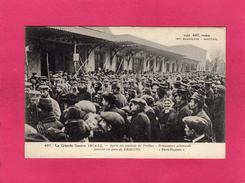 GUERRE 1914-1915, Après Combats De Perthes, Prisonniers Allemands Passant En Gare De Chalons, (Baudinière) - Guerre 1914-18