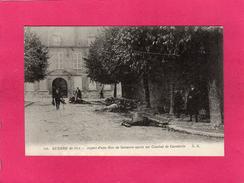 GUERRE 1914, Aspect D'une Rue De Soissons Après Un Combat De Cavalerie, Animée, (A. Richard) - Guerre 1914-18
