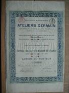 Action De 1898 ATELIERS GERMAIN à MONCEAU-SUR-SAMBRE - Fabrication D'automobiles, Tramways, Matériel De Chemin De Fer... - Automobile