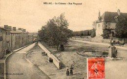 CPA - BELLAC (87) - Aspect De La Rue Vergnaud , Accès Au Château En 1925 - Bellac