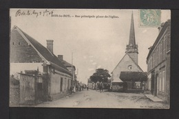 CPA.Dépt.27. BOIS-LE-ROY . Rue Principale, Place De L'église . Petite Animation . - Serquigny