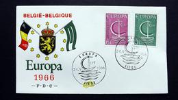 Belgien 1446/7 FDC Liege, EUROPA/CEPT 1966 - FDC
