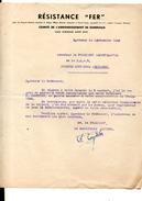 WW2 RESISTANCE FER CHEMIN DE FER GARE  BORDEAUX ST-JEAN  F.F.I. - Documentos Históricos