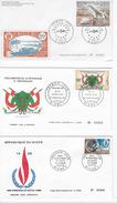 """3 Enveloppes """"Premier Jour Philexafrique Abidjan1969 Et Proclamation Et Internationale 1968 - Niger (1960-...)"""