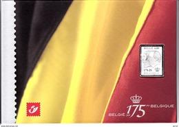Encart N° 3418 Et Bloc 118 Timbre En Argent 175ans Du Royaume De Belgique - Neufs