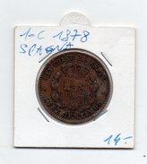 Spagna - 1878 - 10 Centesimi - (FDC4593) - Altri