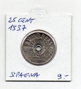 Spagna - 1937 - 25 Centesimi - (FDC4594) - [ 2] 1931-1939 : Repubblica