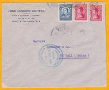 C. 1928 - Colombie - Enveloppe De Bogota Vers St Gall, Suisse - Transit à Barranquilla - Par Avion SCADTA ? - Colombia