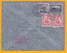 1934 - Enveloppe Par Avion De Bogota, Colombie Vers Berne, CH Par MANCOMUN, Alliance De SCADTA Et PANAM - Griffe Rouge - Colombia
