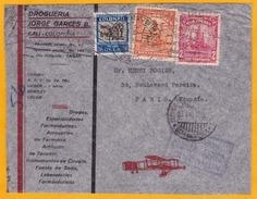 1935  - Enveloppe Par Avion  De Barranquilla, Colombie Vers Paris, France Par MANCOMUN, Alliance De SCADTA Et PANAM - Colombia