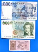 Italie  6  Billets - [ 2] 1946-… : Républic